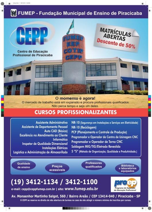 Cartaz e folheto CEEP